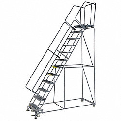 Rolling Ladder, Steel, 120 In.H