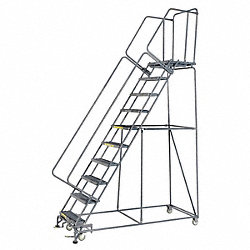 Rolling Ladder, Steel, 100 In.H