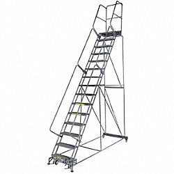Rolling Ladder, Steel, 150 In.H