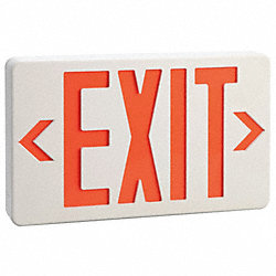 Exit Sign with Battery Back Up, 0.4W, Red