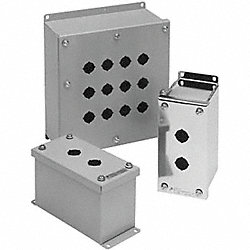 Enclosure, Pushbutton, 2Hole, Sheet Steel