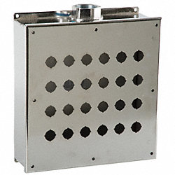 Enclosure, Pushbutton, 24Hole, SS