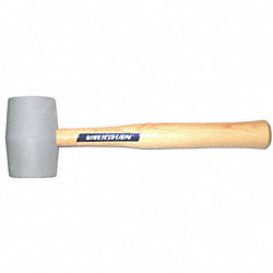 Rubber Mallet, 18 Oz, Hickory