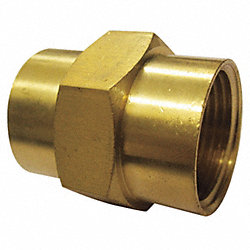 Brass Coupling, 1/4 In, PK 10