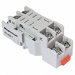 Socket, Relay, 8Pin, DIN/PanelMount, 300V