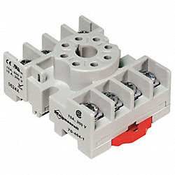 Socket, Relay, 8Pin, 300/600V, 15/10A