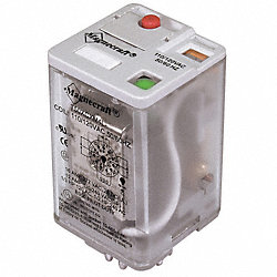 Relay, Plug-In, 11 Pin, 3PDT, 16A, 12VDC
