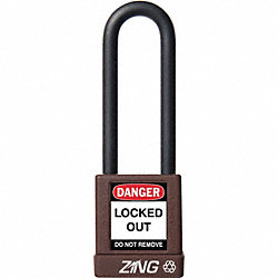 Lockout Padlock, KD, Brown, 1/4In. Dia.