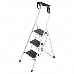 Platform Stepladder, Steel, 11-7/8 In. W