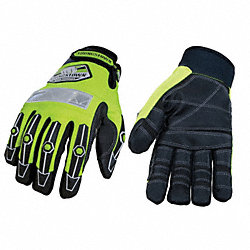 Cut Resistant Gloves, Green/Black, XL