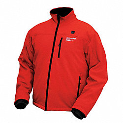Heated Jacket, Insulated, Red, XL