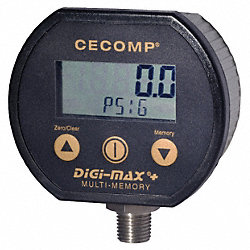 Digital Gauge, 30 InHg Vac to 200 PSIG