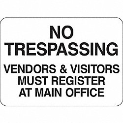 Security Sign, 14 x 20In, BK/WHT, ENG, Text