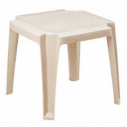 Side Table, Low, 17 In Square, Sand