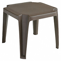 Side Table, Low, 17 In, Bronze Mist