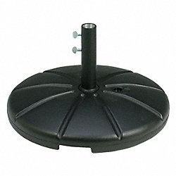 Resin Umbrella Base w filling cap Black