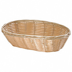 Handwoven Basket, Oval, Natural, PK 12