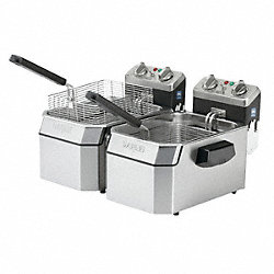 Double Electric Fryer, 120V, 20 Lb