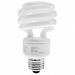 Screw-In CFL, 19W, T3, Medium