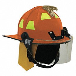 Fire Helmet, Orange, Traditional