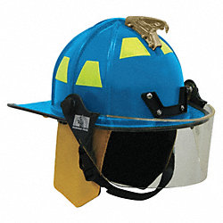 Fire Helmet, Blue, Traditional