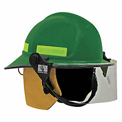 Fire Helmet, Green, Modern