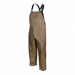 Work Bib Overalls, Brown, Size 36 to 38x30