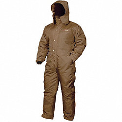 Coverall, Chest 50 to 52In., Brown