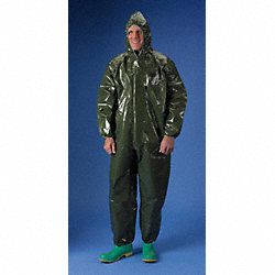 Hooded ChemMax(R) 4, Green, Elastic, 2XL