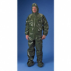 Hooded ChemMax(R) 4, Green, Boots, M