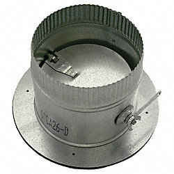 4 In Dia, 26 Ga, Self Seal Collar w/Damper