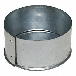 Duct Fitting, End Cap, 5 In