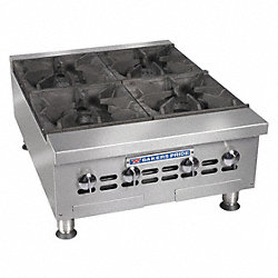 Countertop Gas Open 6 Burner Range