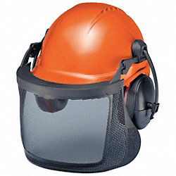 Hard Hat, 6-Pt Pin Lock, 24 NRR Muffs