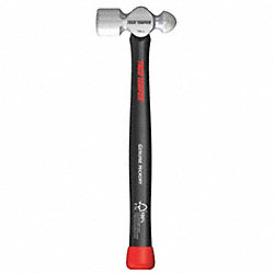 Ball Pein Hammer, Hickory Handle, 16 Oz