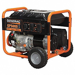 Portable Generator, Rated Watts5000, 389cc