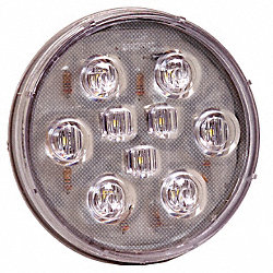 Back Up Light, 9 LED, 4 In, Round, White