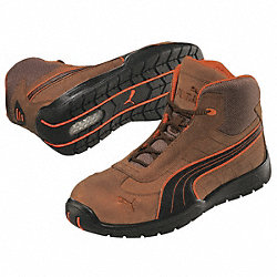 Athletic Work Boots, Stl, Mn, 5, Brn, 1PR