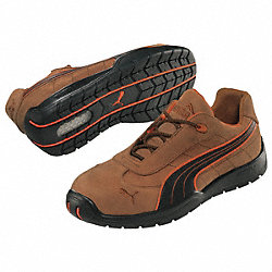 Athletic Work Shoes, Stl, Mn, 8, Brn, 1PR