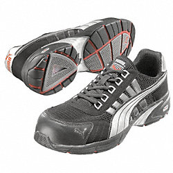 Athletic Work Shoes, Comp, Mn, 8, Blk, 1PR