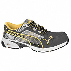 Athletic Work Shoes, Comp, Mn, 11, Gry, 1PR