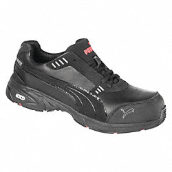 Athletic Work Shoes, Comp, Mn, 11, Blk, 1PR