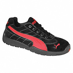 Athletic Work Shoes, Stl, Mn, 8, Blk, 1PR