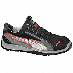 Athletic Work Shoes, Stl, Mn, 8, Gry, 1PR