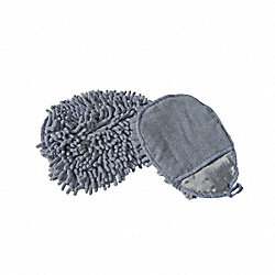 Dust and Wash Mitt, Gray, 7 In. L, 5 In. W