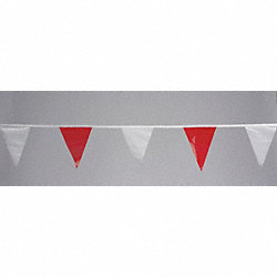 Pennants, Vinyl, Red/White, 60 ft.