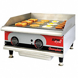 Electric Griddle, W 24 In