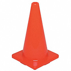 Traffic Cone, 28In, Fluorescent Red/Orange