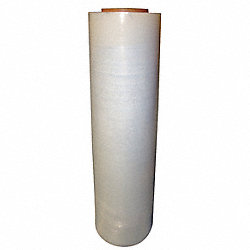 Stretch Wrap Film, Clear, 1500 ft.L, 18In W