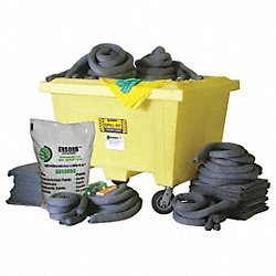 Spill Kit, Wheeled Chst, 150 gal., Oil Only